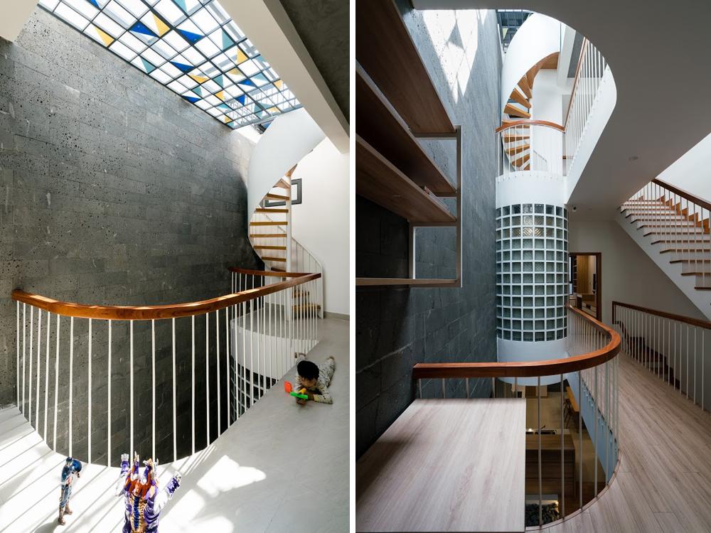 Thiết kế cầu thang nhà phố đẹp