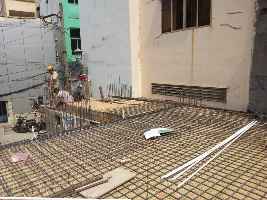 Thi công xây dựng phần thô Chi House