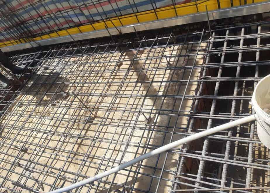 Lắp dựng thép sàn tầng hầm