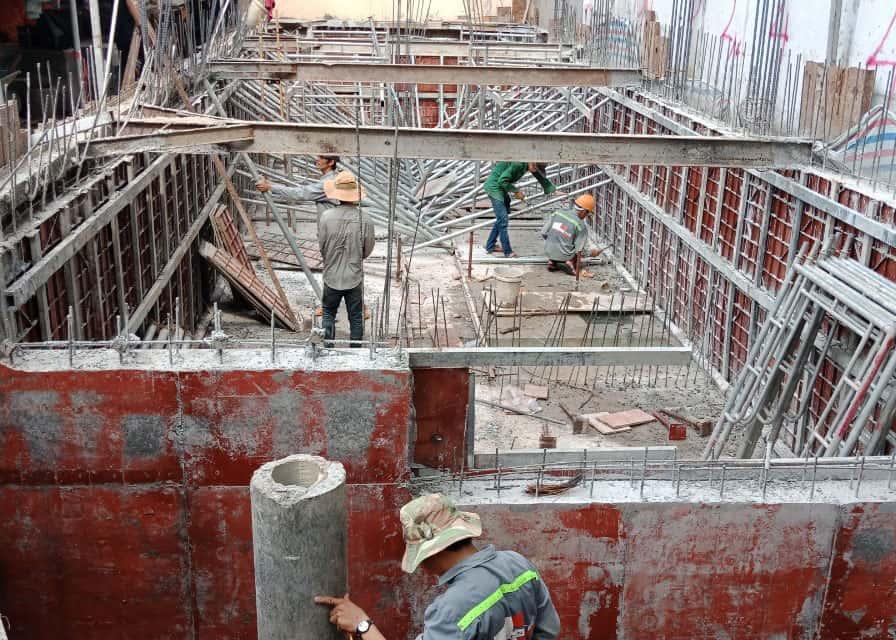 Thi công xây dựng tầng hầm