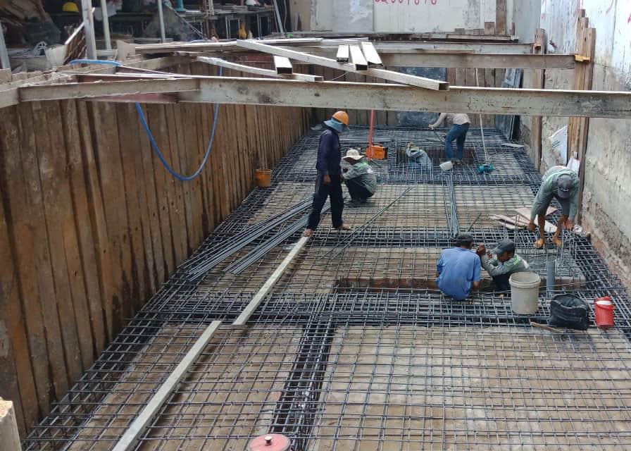 Gia công thép sàn nền hầm
