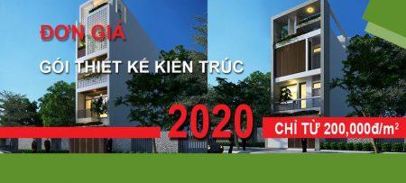 đơn giá thiết kế kiến trúc 2020