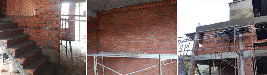 Giai đoạn xây tô tường