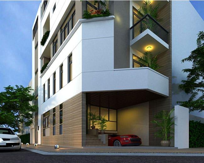 thiết kế nhà 2 mặt tiền kết hợp cho thuê kinh doanh