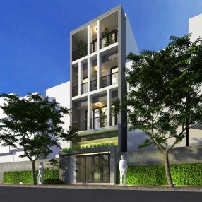 Thiết kế nhà phố mặt tiền 5m tại quận Bình Thạnh