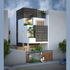 Thiết kế biệt thự phố lệch tầng tại quận 2