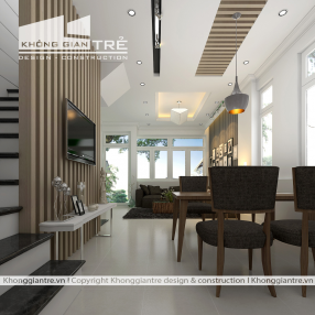 Thiết kế kiến trúc và nội thất hiện đại cho nhà phố 2 mặt tiền tại Phú Nhuận