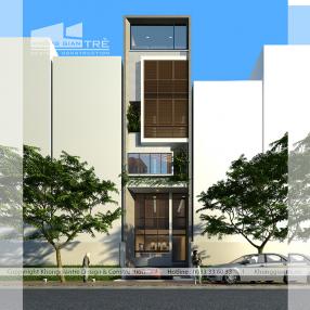 Mẫu thiết kế nhà phố 5m x 12m gồm 6 tầng tại quận 7