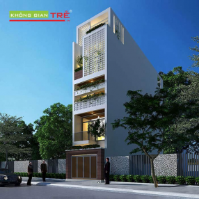 Thiết kế nhà phố 4.5x18m gồm 5 tầng tại Hải Phòng