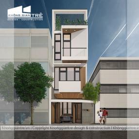 Thiết kế nhà phố hiện đại mặt tiền 4m tại gò vấp tp hcm