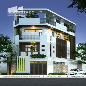 Thiết kế thi công nhà phố hai mặt tiền tại Nhà bè Tp.hcm