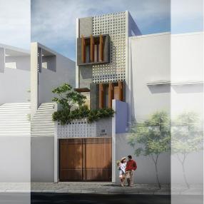 Thiết kế nhà phố mặt tiền 4m hẻm nhỏ tại quận11