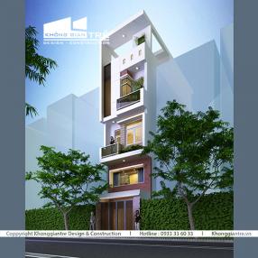 thiết kế thi công nhà phố hiện đại tại quận tân bình
