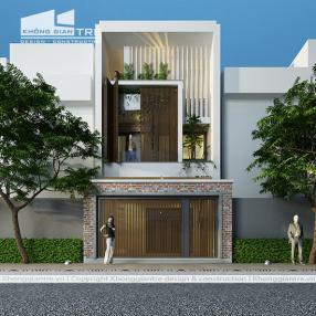 Thiết kế thi công nhà phố mặt tiền 6m tại quận 2